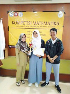 Juara 1 kompetisi Matematika di Universitas Indraprasta Jakarta